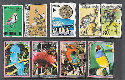 WORLDWIDE BIRDS on Stamps Lot 5 AS PER SCAN