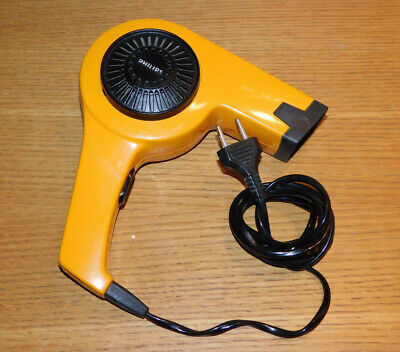 VINTAGE hair dryer PHILIPS HL-3802 ITALY ORANGE Fön Haartrockner SECHE CHEVEUX