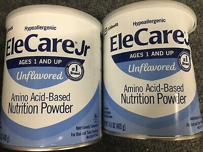2 cans EleCare JR Unflavored FREE PRIORITY SHIP Junior Baby Formula AIVT