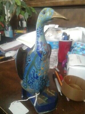 antique collectible chinese luck goose figurine (cloisonne/enamel) 1925 era