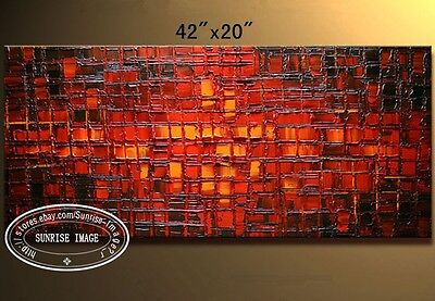 "40*20"" Modern Palette Knife Textured Abstract Oil Painting on canvas /No Frame"