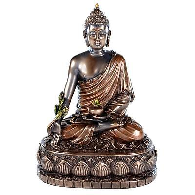 "MEDICINE BUDDHA STATUE 5.5"" Buddhist Icon HIGH QUALITY Health Meditation Bronze"