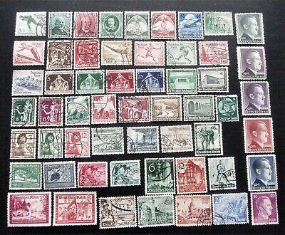 GERMANY- THIRD REICH 1936-1943 Collection of Used & MH stamps