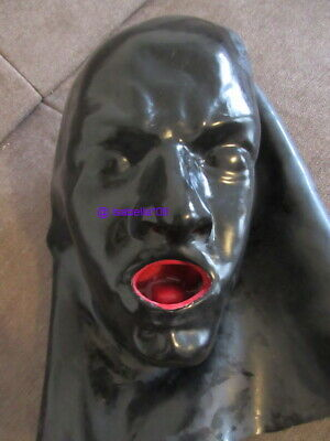 Latexmaske Latex Maske Rubber Mask Hood Mund Nase heavy