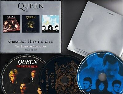QUEEN Greatest Hits I II & III The Platinum Collection 3-CD BOX EMI HOLLAND