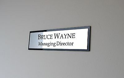 Contemporary Personalised Door Wall Custom Engraved Sign, Name Plaque, Office
