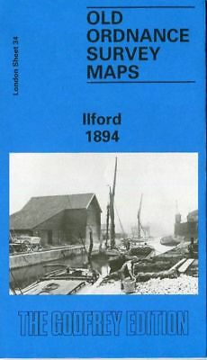 Highly Detailed Ordnance Survey Map Ilford 1894 With Free Uk P&P