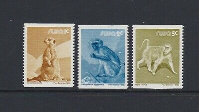 SOUTH WEST AFRICA 1980 Animal defs Coils 1c 2c 5c meerkat baboon SG366-8 MNH