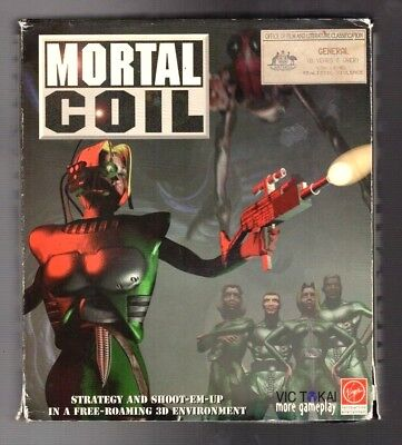 Mortal Coil. PC Game. 1990's Vintage Retro Big Box. New and Complete.