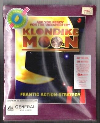 Klondike Moon. PC Game. 1990's Vintage Retro Big Box. New and Complete.