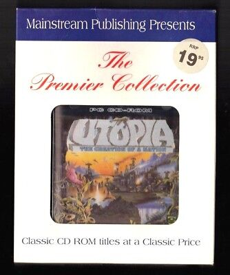 Utopia.  PC Game. 1990's Vintage . New and Complete.