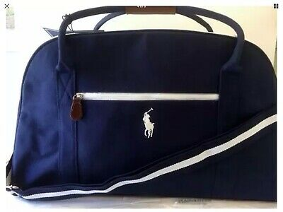 d0c7ac9cce NEW POLO RALPH LAUREN Pony Canvas Duffle Bag Sports Gym Travel Carry-On NAVY