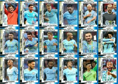 Manchester City 2019 Football League Cup final winners trading cards Carabao Cup