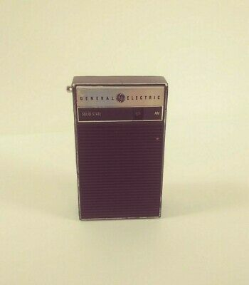General Electric GE Solid State Transistor Am Radio Portable Travel Working VTG
