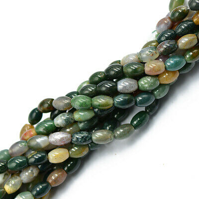 Elegante Fancy Indian Agate Oval Edelstein Lose Perlen Kugel Strang 6mm
