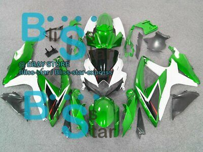 Green White GSXR600 Fairing For SUZUKI GSX-R600 GSX-R750 2008-2010 64 B6