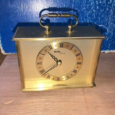 Vintage Avia Quartz Carriage Clock in Good Working Condition Req Size C battery