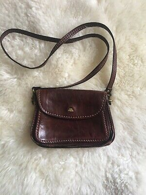 f6a65eacb7 THE BRIDGE VINTAGE Leather Framed Gladstone Handbag Chesnut Brown ...