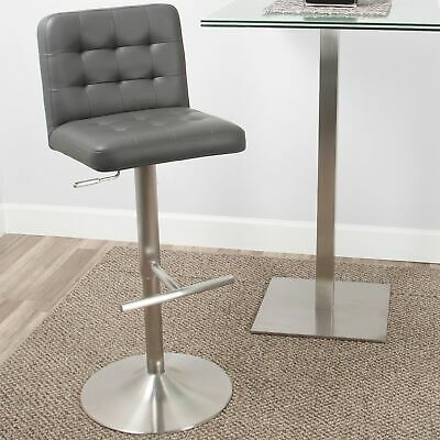 Incredible 24 In High Bar Stool Brushed Aluminum Counter Height Home Machost Co Dining Chair Design Ideas Machostcouk
