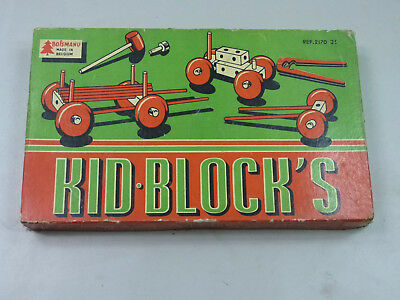Boismanu Kid Block`s Holz Baukasten 60er Jahre Vintage Toy Made in Belgium