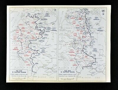 West Point WWII Map War Eastern Europe German Campaign in Russia Summer 1941
