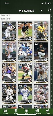 2019 Topps Bunt Gold Tier 5 2.0x Boost 113 cards