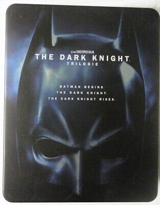 BLU-RAY - BATMAN - THE DARK KNIGHT - TRILOGIE STEELBOOK - Christopher Nolan