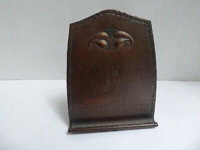 Arts And Crafts Roycroft Hand Hammered Leaf Flower Bookend