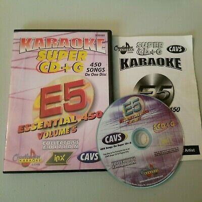 Karaoke essential 450 E5 volume 5 450 songs on 1 disc song list included