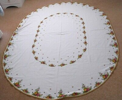 ROYAL ALBERT OLD COUNTRY ROSES LARGE OVAL TABLECLOTH 220cm x 166cm RARE