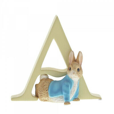 Beatrix Potter Alphabet Letter A Peter Rabbit Name Figurine by Border Fine Arts