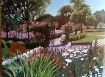 original acrylic painting, landscape, nature, collectible, recent, realism,
