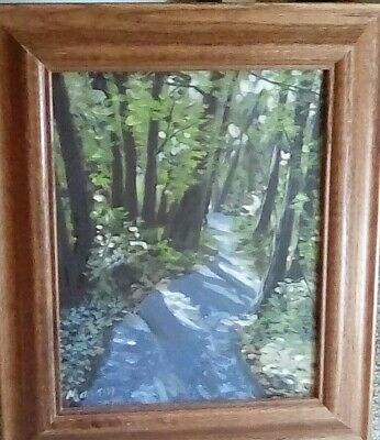 original, oilpainting, landscape, nature, collectible,realism,forest