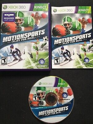 Xbox 360 Kinect Games: Kinect Adventures + Motion Sports Lot of 2 w/ Manuals