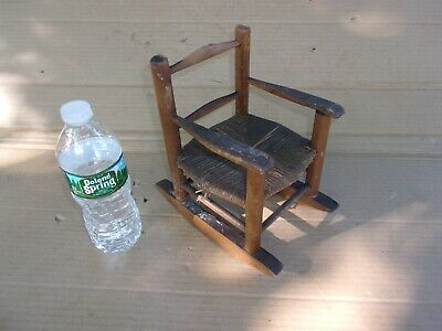 Vintage Antique Wooden Rocking Chair Toy Small