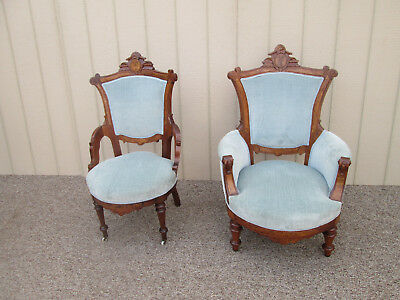 58996  Pair Antique Victorian Chairs Chair s