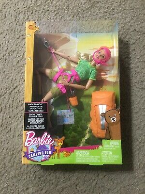 Barbie Camping Fun Made to Move Doll Toy. NEW SEALED IN BOX.