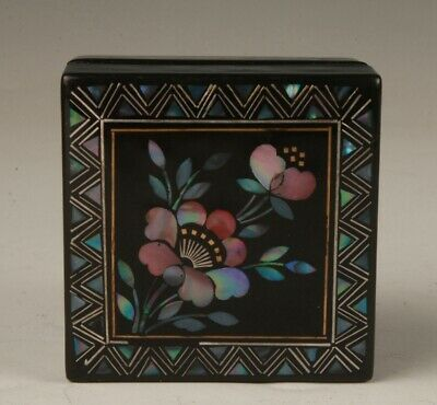 Precious Chinese Lacquer Jewelry Box Lady Decorative Crafts Collection Gift