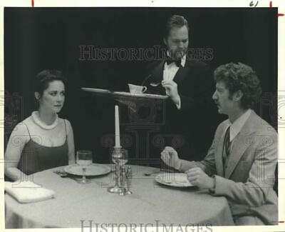1982 Press Photo Lunchtime presentation actors, Between Mouthfuls, Alley Theatre