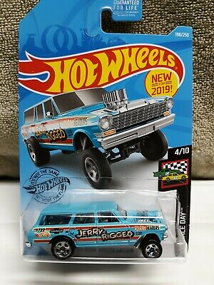 Hot Wheels '64 NOVA WAGON GASSER #198 Blue JERRY-RIGGED HW Race Day 2019