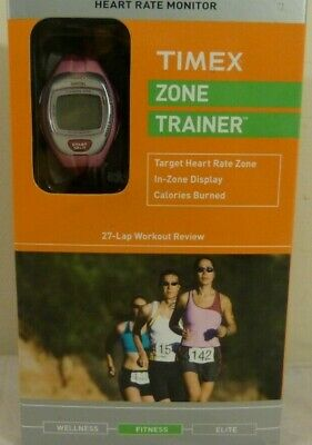 Timex Zone Trainer Heart Rate Monitor - Pink - NEW - Model T5K628 F5