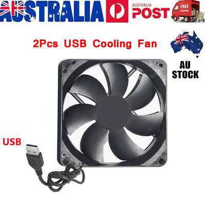 2x USB Cooling Fan Silent Fan For Computer Case PC CPU Case 5V 120x120x25mm