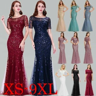 Ever-Pretty UK Long Formal Mermaid Bridesmaid Dress Cocktail Evening Prom Gowns