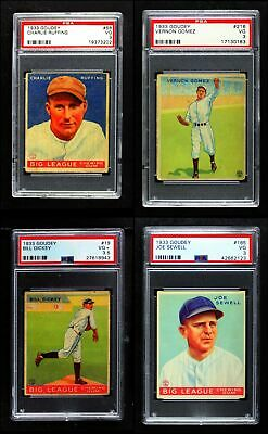 1933 Goudey New York Yankees Near Team Set w/o Ruth and Gehrig VG