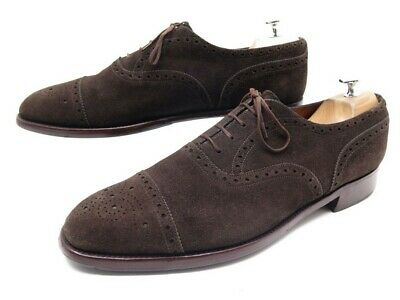 6c8425d1da Chaussures Jm Weston 310 Richelieu 10 44 En Daim Marron Bout Fleuri Shoes  760€
