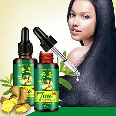 7 Day Ginger Germinal Hair Growth Serum Hair Loss Treatement Oil 30ml
