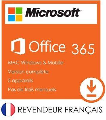 Microsoft office 365 Pro Plus Office 2016 Pour 5 PC Windows/MAc