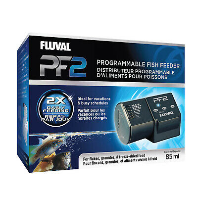 Fluval PF2 Programmable Fish Feeder 85ml - Adjustable Slider Battery Powered