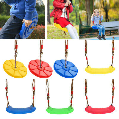 Garden Swing Seat with Height Adjustable Ropes Kids Children Climbing Frame Set