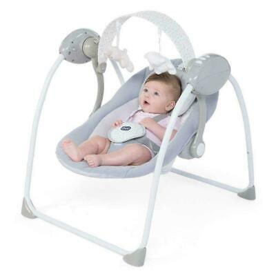 Chicco Relax & Play Baby Swing (Cool Grey) With Automatic Rocking - RRP £69